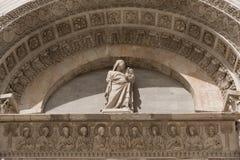 Szczegóły powierzchowność Pisa Baptistery St John wielki baptistery w Włochy, w kwadracie cudy Fotografia Stock