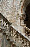 Szczegóły rektora ` s pałac, Dubrovnik fotografia stock