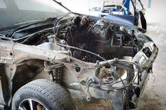 Szczegóły samochód wypadek obraz stock