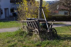 Szczegóły wschodni czas przy wiejską wsią w południowym Germany Zdjęcia Royalty Free