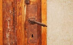 szczegółów antykwarscy drzwi Fotografia Royalty Free