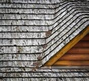 Szczegółów dormers na dachowych gontach Zdjęcia Stock