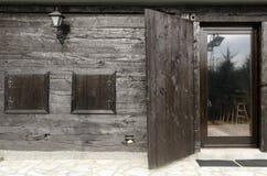 szczegółów drzwi etno dom Zdjęcie Stock