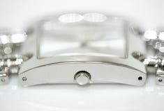 szczegółów srebra zegarek Obraz Stock