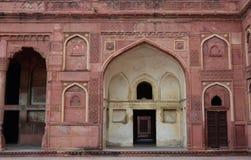 Szczegół Agra fort w India Zdjęcie Stock