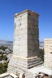 Szczegół Agrippa wierza akropol Propylaea Obraz Royalty Free
