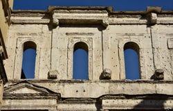 Szczegół antyczna Porta Borsari brama w centrum Verona (1s obrazy stock