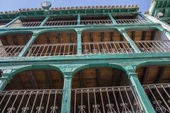 Szczegół balkony typowi wiek XIX, Hiszpania Zdjęcia Royalty Free