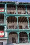 Szczegół balkony typowi wiek XIX, Hiszpania Zdjęcie Stock