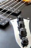 Szczegół basowa gitara Obraz Royalty Free