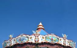 Szczegół carousel z amorkami Zdjęcia Royalty Free