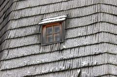 Szczegół dach z okno Zima Obrazy Stock