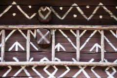 Szczegół dekoracje w Cicmany Zdjęcia Stock