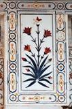 Szczegół dekoracje w Czerwonym Agra forcie Zdjęcia Stock