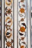 Szczegół dekoracje w Czerwonym Agra forcie Zdjęcie Royalty Free