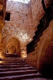 Szczegół forteca, Ajloun, Jordania. Arabski fort Zdjęcia Royalty Free