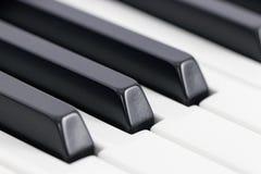 Szczegół fortepianowi klucze Obraz Royalty Free