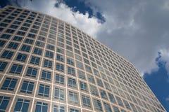 Szczegół futurystyczny drapacz chmur w Nowy Jork w usa Obrazy Royalty Free