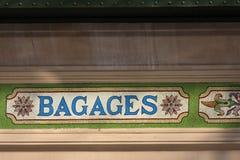 Szczegół Gare des Brotteaux Zdjęcia Stock