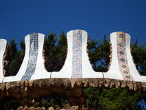 Szczegół Gaudi architektura w Parkowym Guell Obraz Royalty Free