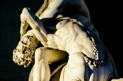 Szczegół Hercules bój z centaurem Nessus Zdjęcia Stock
