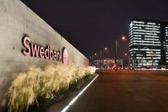 Szczegół Kierowniczy biuro Swedbank Zdjęcie Royalty Free