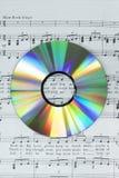 Szczegół kolorowy cd na fortepianowym wyniku Zdjęcie Stock