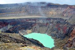 Szczegół krater, Santa Ana wulkan Zdjęcia Stock