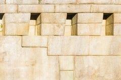 Szczegół Machu Picchu kamieniarka Zdjęcia Royalty Free