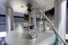 Szczegół maszyneria w physics laboratorium Obrazy Royalty Free