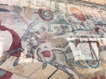 Szczegół mozaika w Willi Romana Del Casale Obrazy Stock