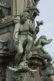 Szczegół Neptune fontanna w Frederiksborg kasztelu w Hiller Zdjęcie Royalty Free