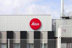 Szczegół nowa fabryka ikonowy Leica kamery wytwórca w Portugalia Fotografia Stock