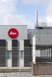 Szczegół nowa fabryka ikonowy Leica kamery wytwórca w Portugalia Obraz Stock