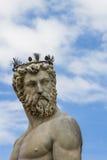 Szczegół od fontanny Neptune w Florencja Fotografia Stock