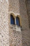 Szczegół okno przy Alcazar Segovia kasztel Obrazy Royalty Free