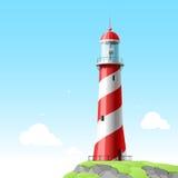 szczegółowa ilustracyjna latarnia morska Obrazy Royalty Free