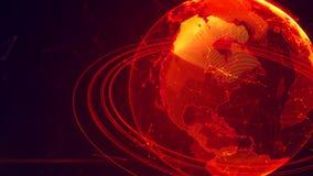 Szczegółowa wirtualna planety ziemia Zdjęcie Stock