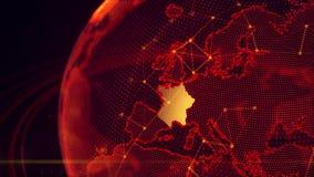 Szczegółowa wirtualna planety ziemia Obrazy Royalty Free