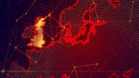 Szczegółowa wirtualna planety ziemia Zdjęcie Royalty Free