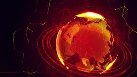 Szczegółowa wirtualna planety ziemia Fotografia Royalty Free