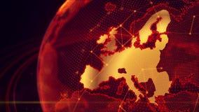 Szczegółowa wirtualna planety ziemia Obraz Royalty Free