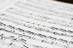 szczegółowe uwagi muzyki Fotografia Stock