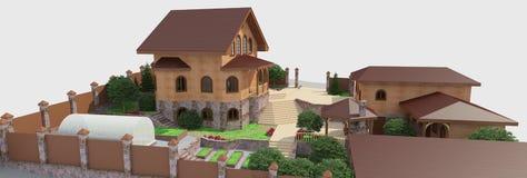 Szczegółowi krajobrazowi projektów elementy Zdjęcia Royalty Free