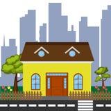 Szczegółowy kolorowy dom Obrazy Stock