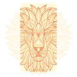Szczegółowy lew w aztec stylu Obraz Royalty Free