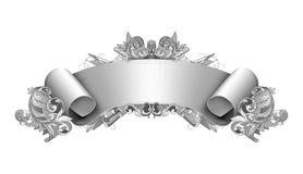 szczegółowy sztandaru rocznik Zdjęcia Royalty Free