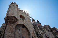 Szczegół Palais des Papes, Avignon - Obraz Royalty Free