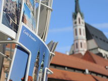 Szczegół pocztówka w Cesky Krumlov w republika czech Zdjęcia Royalty Free