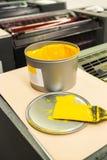 Szczegół rolowniki w odsadzki drukowej maszynie Zdjęcia Royalty Free